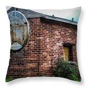 Old Brick Building Throw Pillow