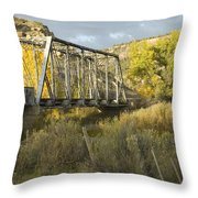 Old Bridge At La Boca Throw Pillow