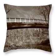 Old Bridge In Autumn Throw Pillow