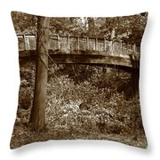 Old Bridge In Summer Throw Pillow