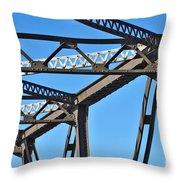 Old Bridge Structure Throw Pillow