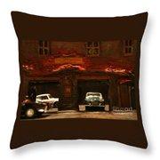 Old Brooklyn Garage Throw Pillow