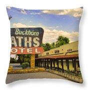 Old Buckhorn Baths Throw Pillow