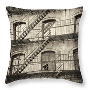 Old Building II. Throw Pillow
