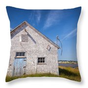 Old Building In North Rustico Throw Pillow