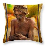 Old Bushman Throw Pillow