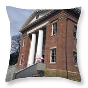 Old California State Capitol Building Benicia Throw Pillow