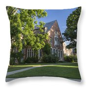 Old Campus Michigan State University Throw Pillow