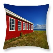 Old Cannery Building Throw Pillow