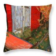 Old Canoe Throw Pillow