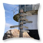 Old Cape Point Lighthouse In South Africa Throw Pillow