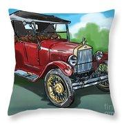 Old Car 04 Throw Pillow