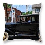 Old Car  Throw Pillow