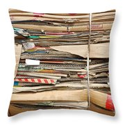 Old Cardboard Boxes  Throw Pillow