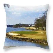Old Carolina Golf Club Throw Pillow