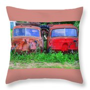 Old Cars Throw Pillow