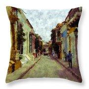 Old Cartagena 1 Throw Pillow
