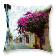 Old Cartagena 2 Throw Pillow