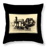 Old Case Thresher Throw Pillow
