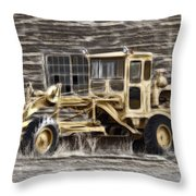 Old Cat Grader Throw Pillow