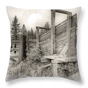 Old Cattle Ramp Throw Pillow