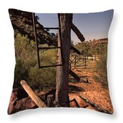 Old Cattle Station V2 Throw Pillow