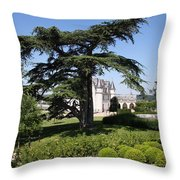 Old Cedar At Chateau Amboise Throw Pillow