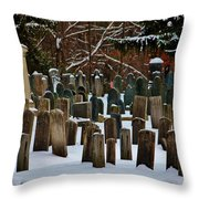 Old Cemetery Lancaster Ma Throw Pillow