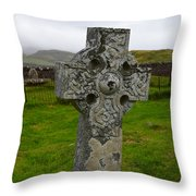 Old Cemetery Stones In Scotland Throw Pillow