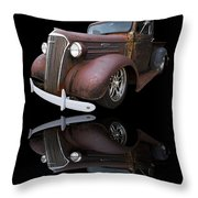 Old Chevy Throw Pillow by Debra and Dave Vanderlaan