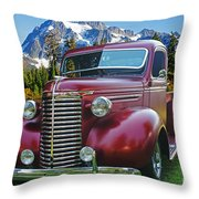 Old Chevy Pickup Ca5073-14 Throw Pillow