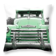 Old Chevy Pickup Truck Throw Pillow