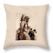 Old Cheyenne Throw Pillow