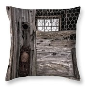 Old Chicken Coop Throw Pillow