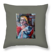 Old Child Of The City Throw Pillow