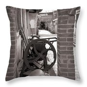 Old Chinese Village Street Throw Pillow