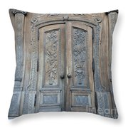 Old Church Door Throw Pillow