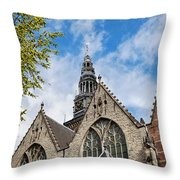 Old Church In Amsterdam Throw Pillow