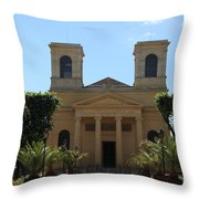 Old Church - Macon - Burgundy Throw Pillow