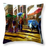 Old City Ahmedabad  Series 2 Throw Pillow