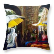 Old City Ahmedabad Series 8 Throw Pillow