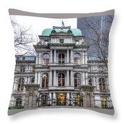 Old City Hall Throw Pillow