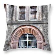 Old City Jail Entrance Throw Pillow