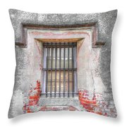 The Old City Jail Window Chs Throw Pillow