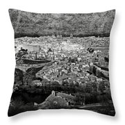 Old City Of Toledo Bw Throw Pillow