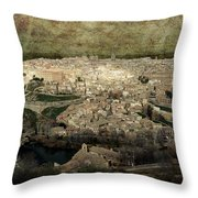 Old City Of Toledo Throw Pillow