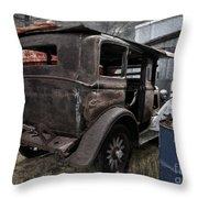 Old Classic Car Throw Pillow