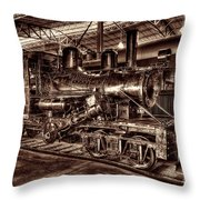 Old Climax Engine No 4 Throw Pillow