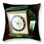 Old Clock Throw Pillow by Les Cunliffe