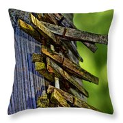 Old Clothes Pins I Throw Pillow
